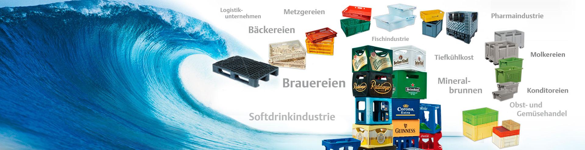 BOHRER Kastenwascher sorgen wirtschaftlich für Sauberkeit und Hygiene bei Getränkekästen, Lebensmittelkisten, Logistikbehältern und Paletten